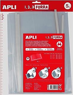 comprar comparacion APLI Kids 16913 - Pack de 5 forros de libros, solapa ajustable PP, 290 mm
