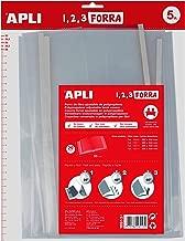 Apli Kids 16913 - Pack de 5 forros de libros, solapa ajustable PP, 290 mm