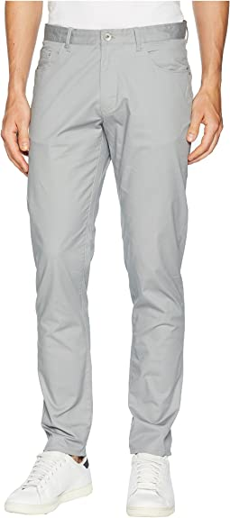 Five-Pocket Micro Herringbone Pants