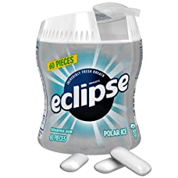 ECLIPSE Gum Polar Ice Sugarfree Chewing Gum 60-Piece Bottle