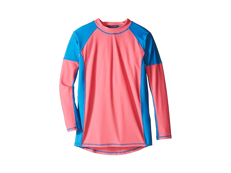 Toobydoo Color Block Rashguard (Infant/Toddler/Little Kids/Big Kids) (Pink/Blue) Girl