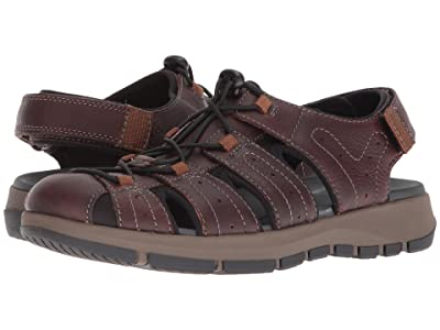 Clarks Brixby Cove (Dark Brown Leather) Men