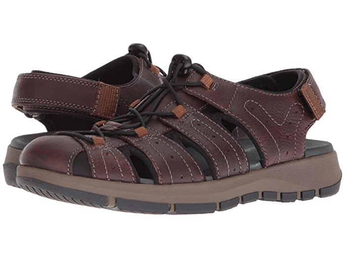 Clarks  Brixby Cove (Dark Brown Leather) Mens Sandals