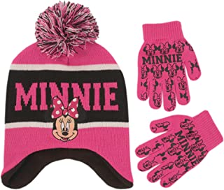 Little Girls Minnie Mouse Hat and Glove Cold Weather Set, Age 4-7