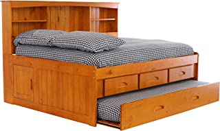 Discovery World Furniture 2123-2192EKT-2190 with with 3 Drawers and Twin Trundle Daybed, Honey
