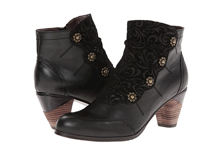 Steampunk Boots & Shoes, Heels & Flats LArtiste by Spring Step Belgard Black Womens  Shoes $139.95 AT vintagedancer.com