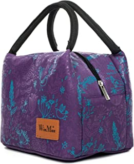 Fashionable Lunch Box for Women Insulated Cute Lunch Bag Girls - Pink/Heart/Colour Stripe (Purple)