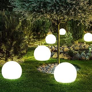 2x Außen LED SOLAR Leuchten weiß Hof Beleuchtungen Kugel Balkon Strahler Lampen