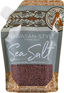 SaltWorks Alaea Red Hawaiian Sea Salt Coarse Grain, Pour Spout Pouch, 16 Ounce