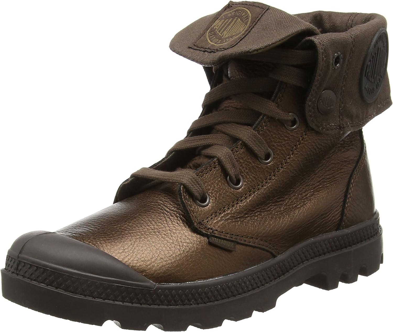 Palladium Women's Baggy Metallic Lea Combat Boot