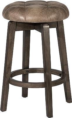 Amazon Com Homelegance Shapel Swivel Pub Height Barstool 30 Sh Cherry Solid Back Furniture Decor