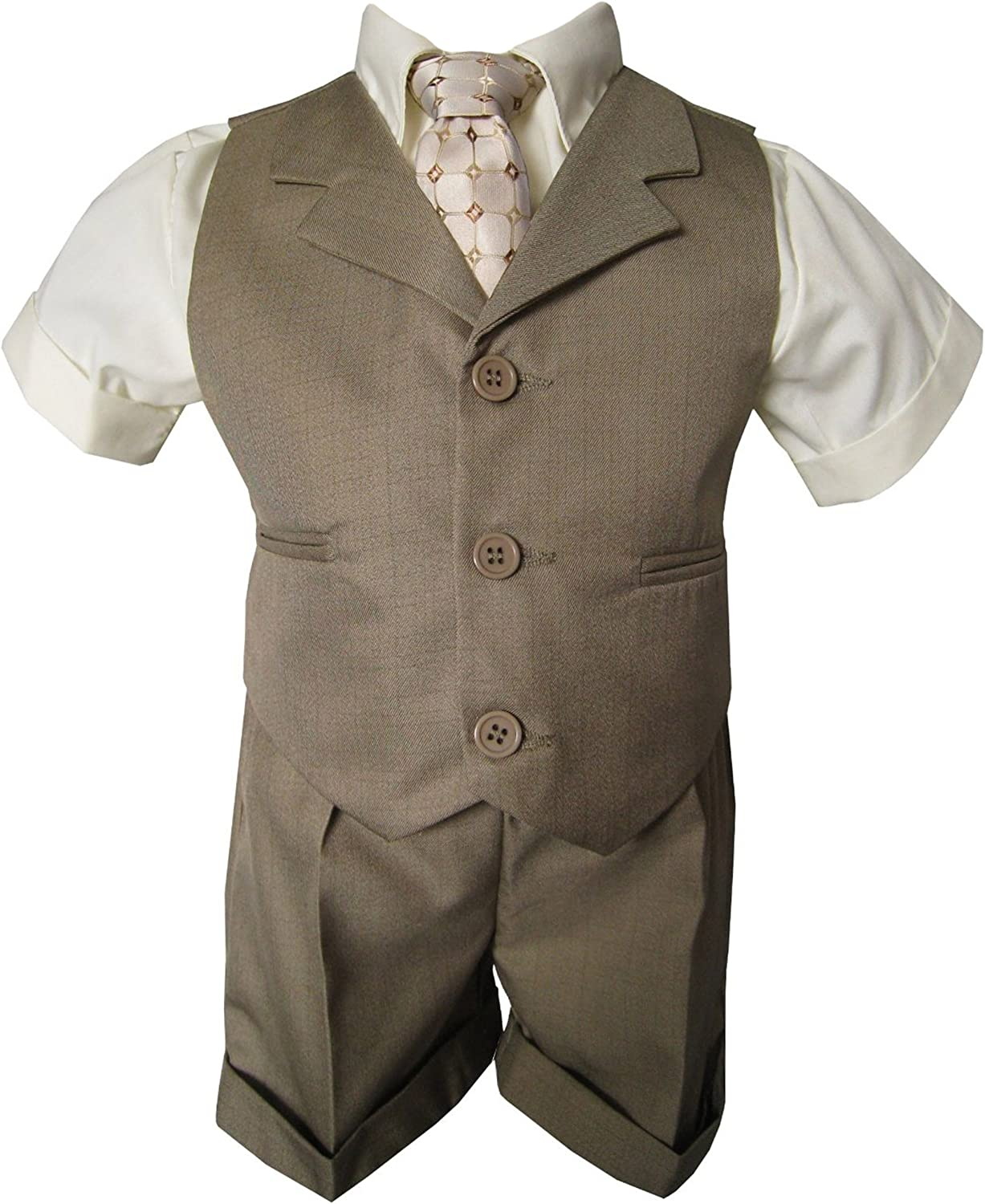 Gino Giovanni Baby and Toddler Boy Natural Suit Ves Sales results No. 1 Oklahoma City Mall Beige Summer