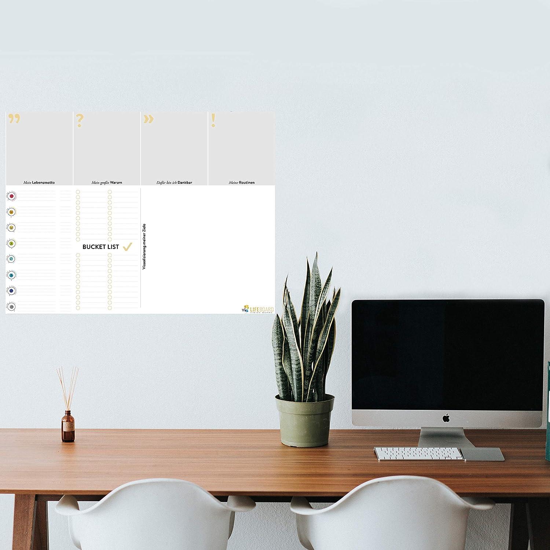 individuell gestaltbarer Wandplaner f/ür deinen Erfolg im Leben 80 x 60 cm laminiert Pers/önlichkeitsentwicklung LIFEBOARD/® PREMIUM VISION BOARD by ENDLICH ERFOLG F/ür dein bestes Jahr