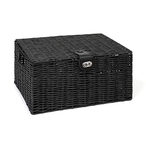 Black Storage Boxes With Lid Amazon Co Uk