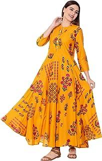 GULMOHAR JAIPUR Women's Cotton Anarkali Kurta