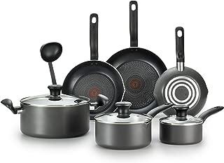 T-fal特福 A821SA不粘锅10件套 可用于洗碗机 深灰色