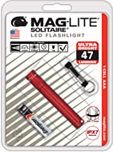 Maglite Solitaire LED 1-Cell AAA Flashlight Red