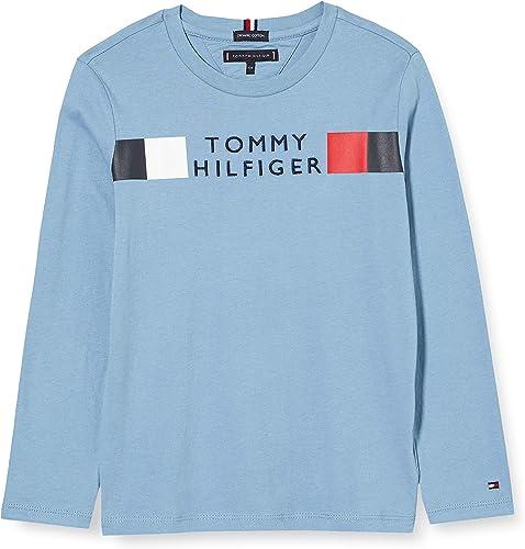 Tommy Hilfiger MSW Global Stripe tee L/S Camisa para Niños
