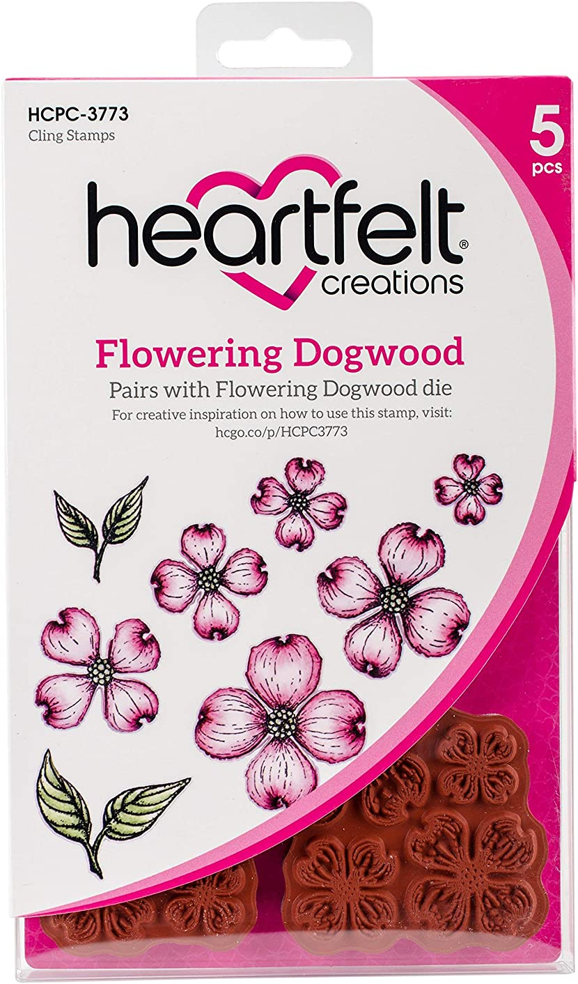 Heartfelt Creations Flowering Dogwood Cling Rubber Stamp