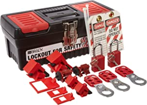 Brady Personal Breaker Lockout Tagout Electrical Safety Toolbox Kit - 105964,Includes 3 Safety Padlocks,Black