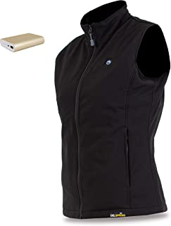 delspring Women's Soft Shell Heated Vest with Battery 12 Hour - Windproof Heated Vest for Women