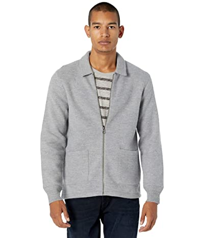 J.Crew Boiled Merino Coach Jacket (Heather Grey) Men