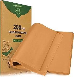 Kootek 200 Pcs Parchment Paper Baking Sheets, 12 x 16 Inch Heavy-duty Baking Paper Pre-cut Unbleached Bakery Paper for Coo...