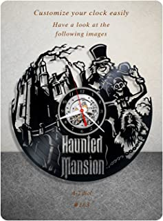 Haunted Mansion vinyl clock, vinyl wall clock, vinyl record clock horror fantasy comedy walt disney eddie murphy wall art home decor kids gift 163 - (a2)