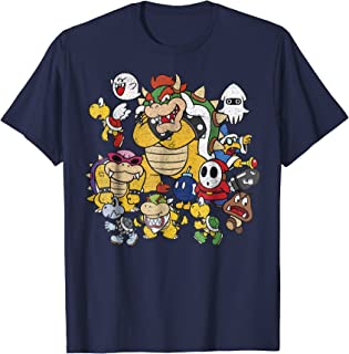 Nintendo Super Mario Bowser Enemy Group Graphic T-Shirt