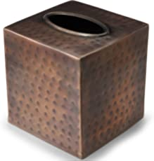 Monarch Abode Monarch Copper Finish Hand Hammered Metal Tissue Box Cover