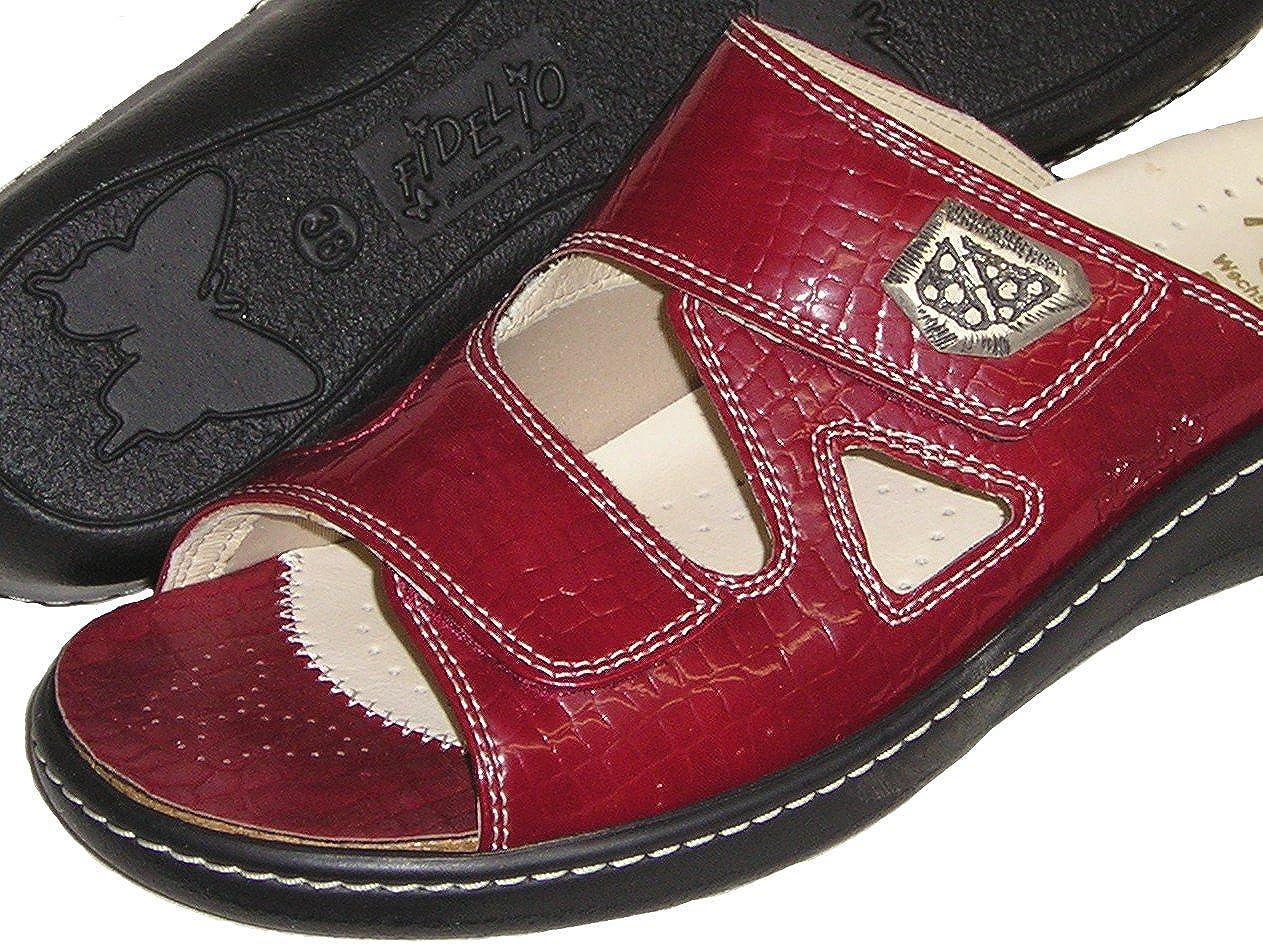 Fidelio Women's Hallux Fabia Bunion Relief Slide Sandal 434003 (Red)