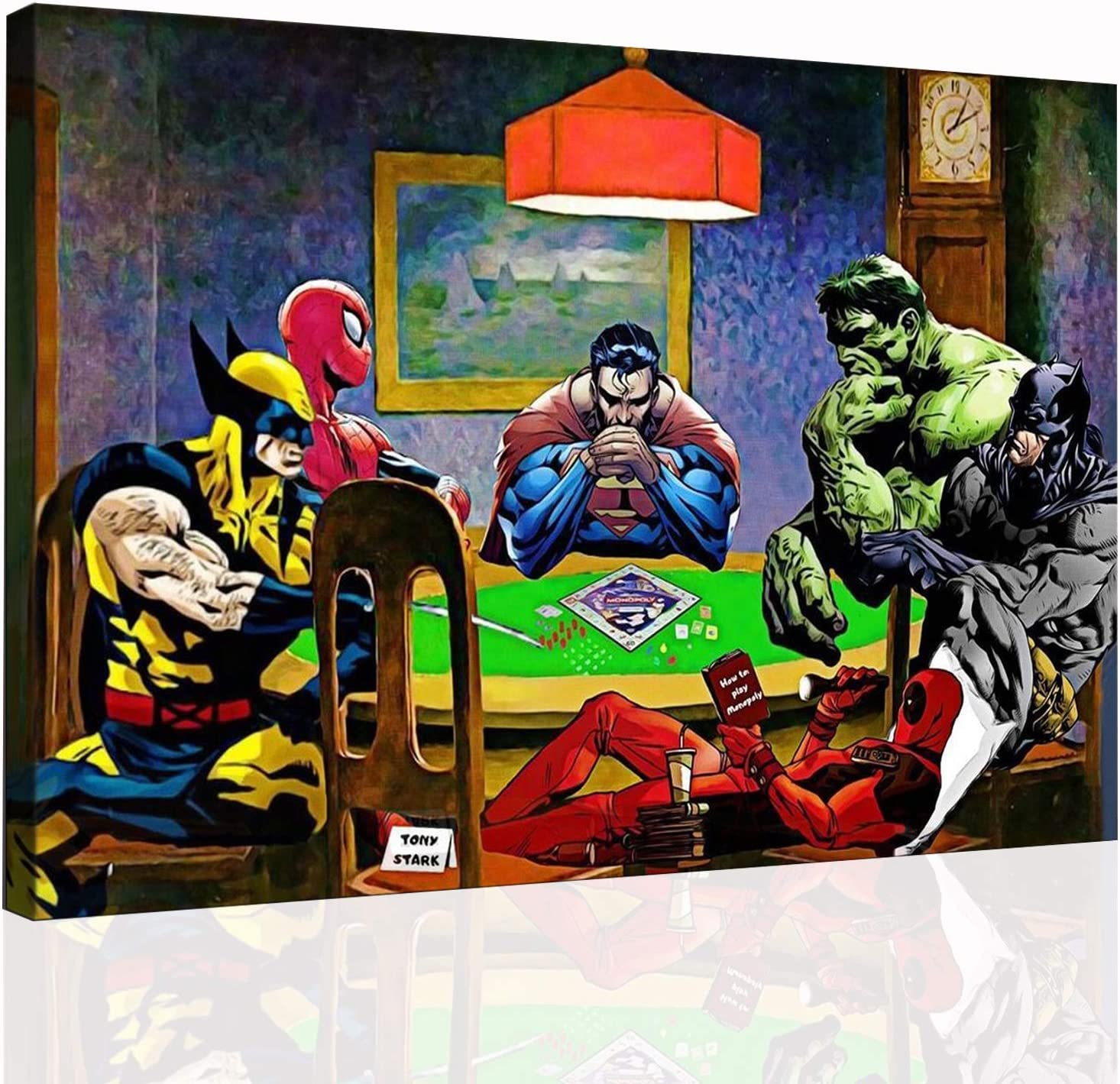 Superhero Anime Series Seasonal Wrap Introduction Collection poster classic Super intense SALE wal Home canvas
