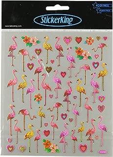 Tattoo King Multi-Colored Stickers-Flamingo Love