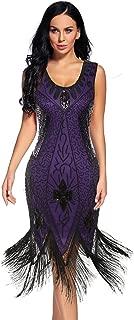 Women's Flapper Dress 1920s Beaded Sequin Fringed Great Gatsby Dress