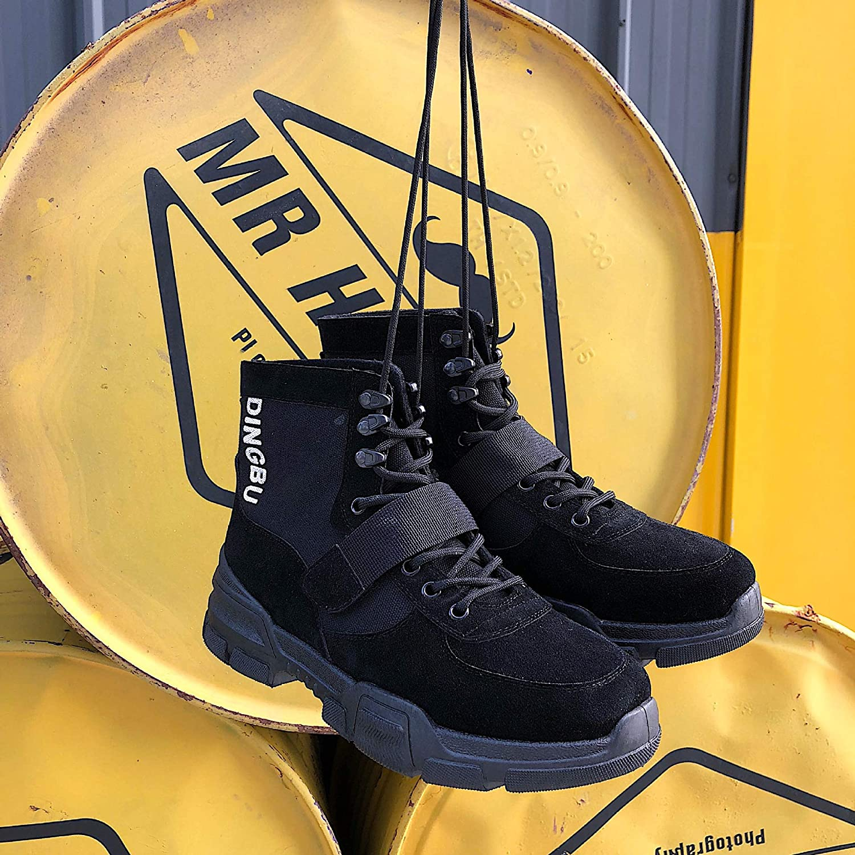 LOVDRAM Boots Men's Autumn Top Men'S Martin Boots Fashion Casual Fashion Men'S shoes Wild Student shoes