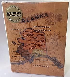 Alaska Photo Album Map Laminated 200 Pocket