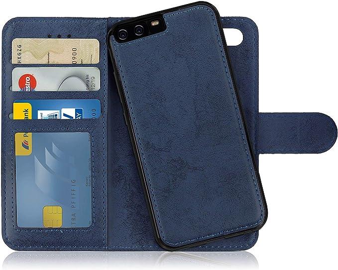 25 opiniones para MyGadget Funda Cartera 2 en 1 para Huawei P10- Flip Case con Tapa Magnética-
