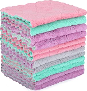 Microfiber Cleaning Cloth - 12 Pack Kitchen Towels - Double-Sided Microfiber Towel Lint Free Highly Absorbent Multi-Purpos...