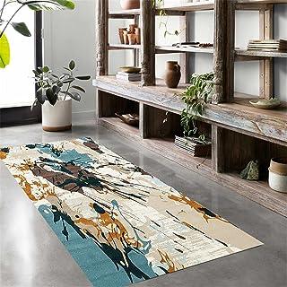 TONGQU Tapis De Passage, Moderne Couleur Antidérapant Lavable Polyester Longue Tapis de Couloir Au Mètre pour Salon/Cuisin...