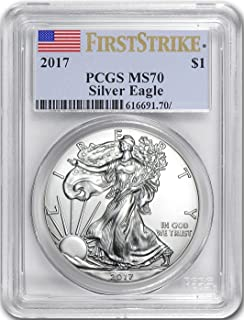 2017 AMERICAN SILVER EAGLE FIRST STRIKE Dollar MS70 PCGS