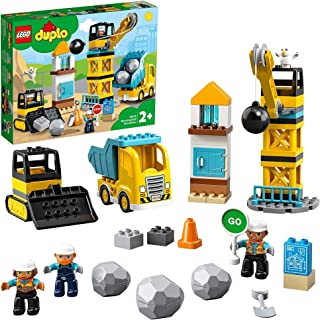 LEGO DUPLO Town Wrecking Ball Demolition 10932 building set, Preschool Toy for Toddlers 2+ years old (56 pieces)