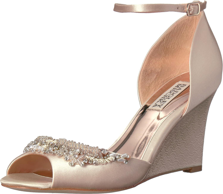 Badgley Mischka Womens Malorie Wedge Sandal