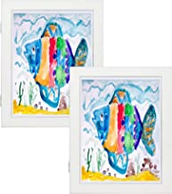 8.5x11 White Art Frames - Set of 2 - Wall and Tabletop Display - Front Opening for Easy Showcase - Great for Kids Drawings and Artworks, Children Art Projects, Schoolwork - Home or Office