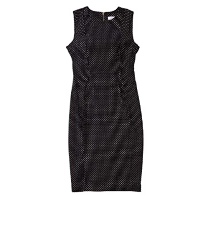 Calvin Klein Printed Sheath Dress (Black/White) Women