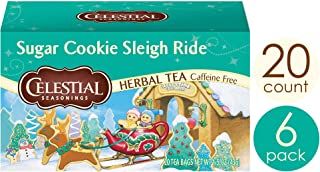 Celestial Seasonings Herbal Tea, Sugar Cookie Sleigh Ride, 20 Count Box (Pack of 6)