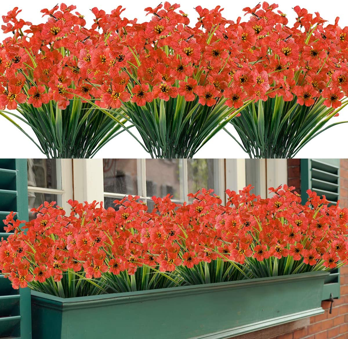 20 Bundles Artificial Ranking integrated 1st place Outdoor UV 5 ☆ very popular Fake Flowers Resistant