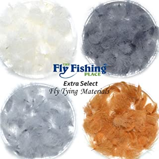 The Fly Fishing Place Fly Tying Materials - Select CDC Cul De Canard Oiler Puffs Master Pack 1-4 Colors - Light Dun Dark Dun Cinnamon Natural White