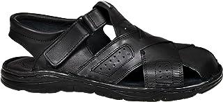 b787d3a3 Lukpol Calzado Genuina Piel Búfalo Zapatos Ortopédicos Cómodos Sandalias  Hombres Modelo-867