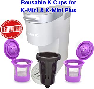 Delibru Reusable K Cups For K Mini Keurig K Mini Plus with Adapter | Keurig Mini Plus Reusable K Cups for Mini Keurig