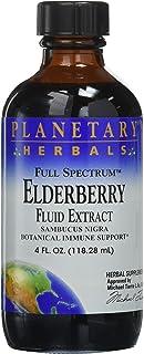 Planetary Herbals Full Spectrum Elderberry Fluid Extract Supplement, 4 Fluid Ounce